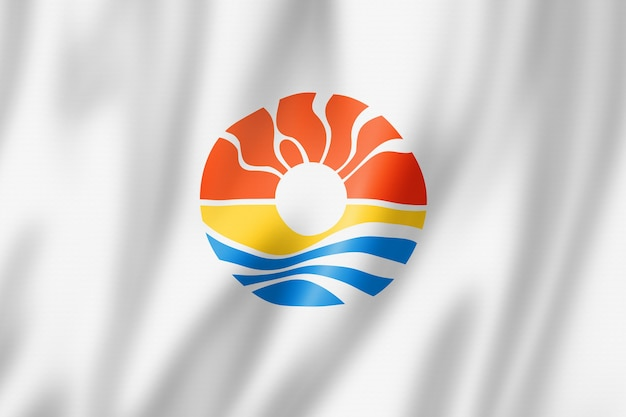 Flaga miasta benito juarez, meksyk macha kolekcja transparentu. ilustracja 3d