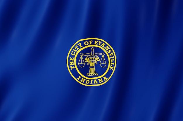 Flaga miasta evansville, indiana (usa)