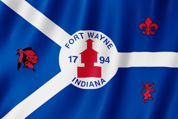 Flaga miasta fort wayne, indiana (usa)