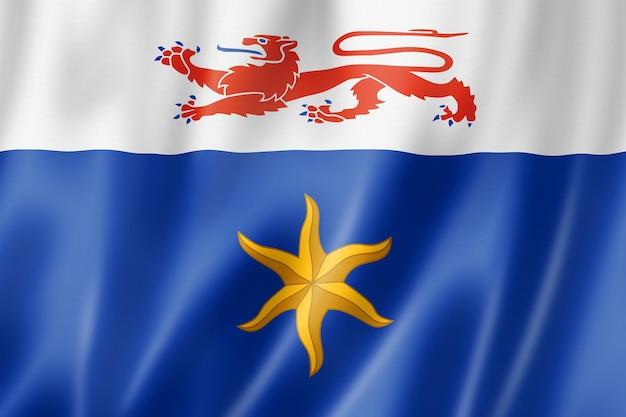 Flaga miasta hobart, australia macha kolekcja transparentu. ilustracja 3d