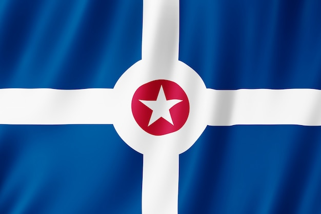 Flaga miasta indianapolis, indiana (usa)
