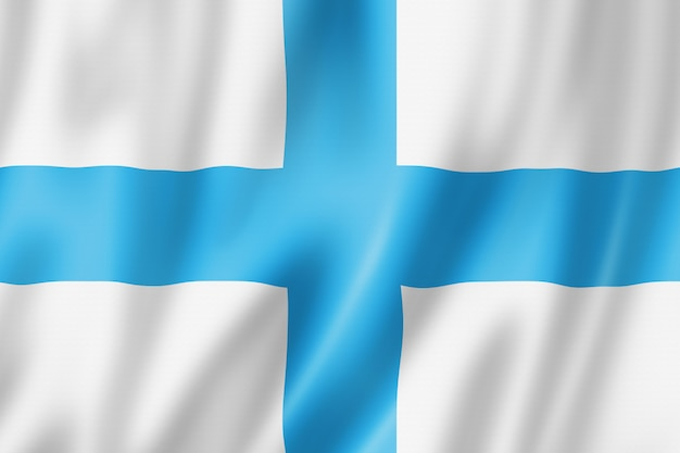 Flaga miasta marsylia, francja