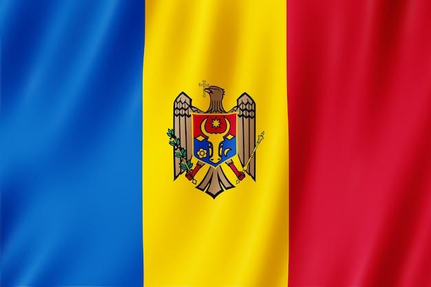 Flaga mołdawii na wietrze.
