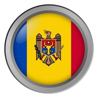 Flaga mołdawii okrągła jak guzik