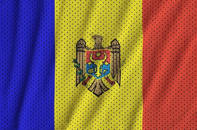 Flaga mołdawii wydrukowana na nylonowej siatce z tkaniny sportowej