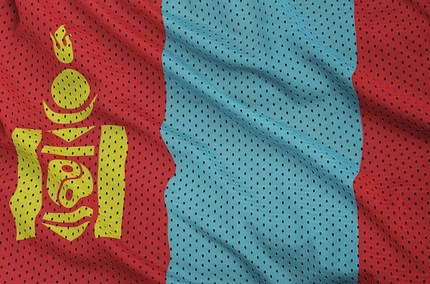 Flaga mongolii wydrukowana na nylonowej siatce z poliestru