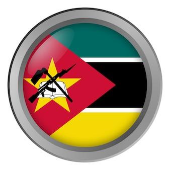 Flaga mozambiku okrągła jako guzik