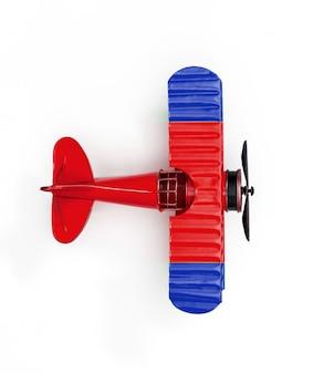Flaga narodowa irlandii podróży metalowy samolot zabawka samodzielnie na białym tle