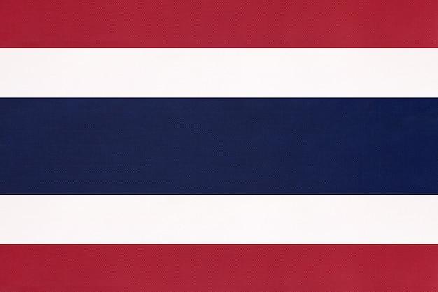 Flaga narodowa tajlandii tkaniny