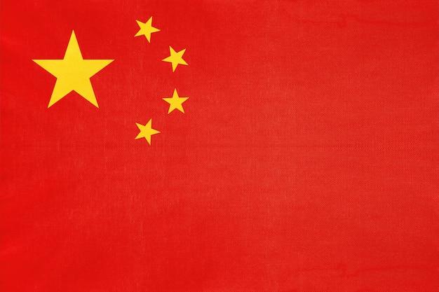 Flaga narodowa tkanina chiny, symbol międzynarodowego świata azjatyckiego kraju.