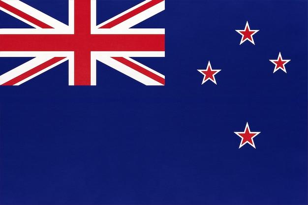 Flaga narodowa tkanina nowej zelandii