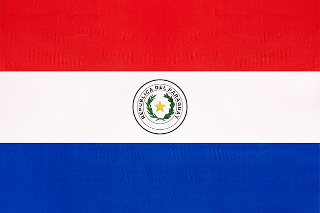 Flaga narodowa tkanina paragwaju