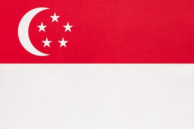 Flaga narodowa tkanina singapuru