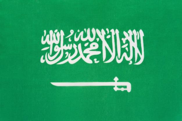 Flaga narodowa tkaniny arabii saudyjskiej