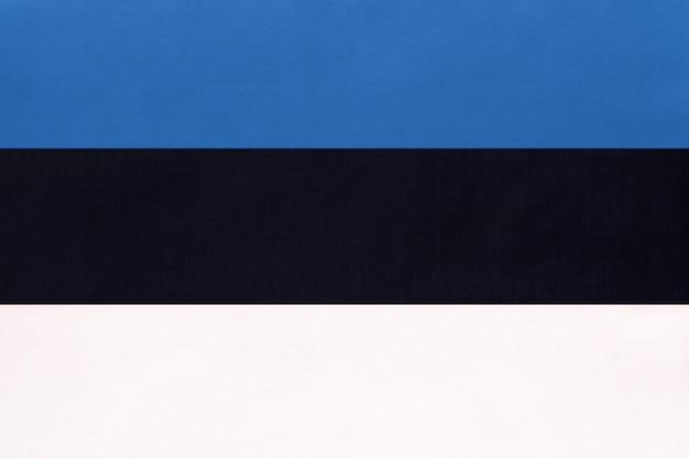 Flaga narodowa tkaniny estonii, symbol międzynarodowego świata kraju europejskiego.