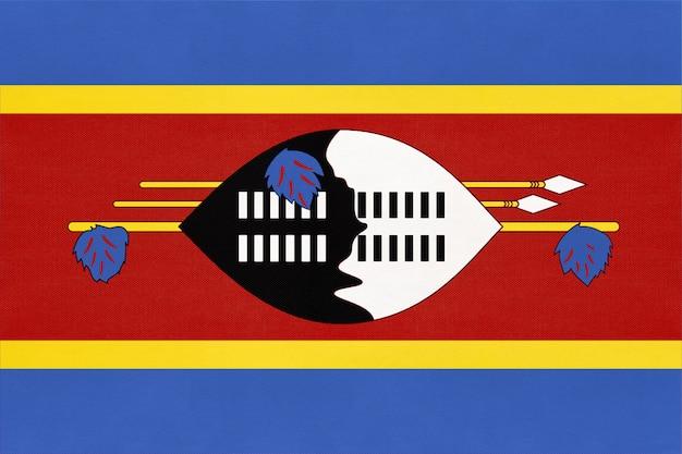 Flaga narodowa tkaniny eswatini królestwa