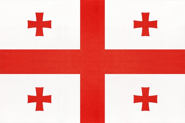 Flaga narodowa tkaniny gruzji