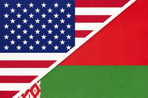 Flaga narodowa usa vs białoruś