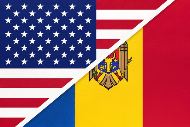 Flaga narodowa usa vs mołdawia