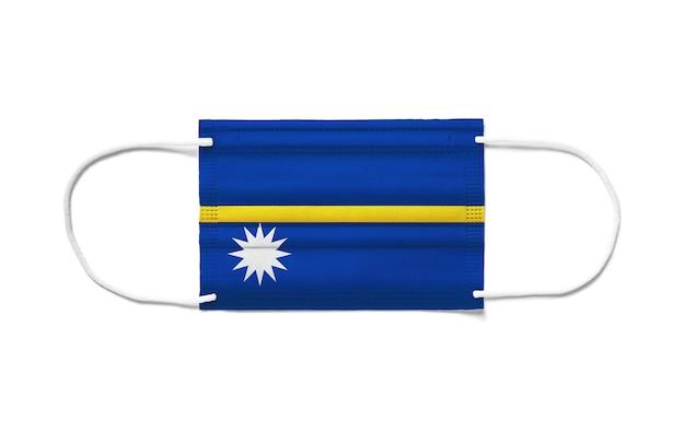 Flaga nauru na jednorazowej masce chirurgicznej.