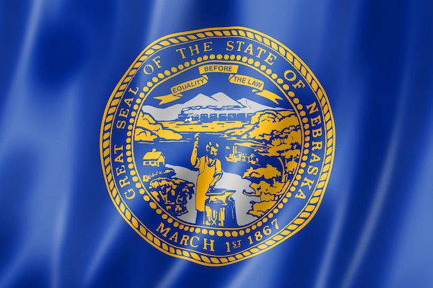 Flaga nebraski, usa