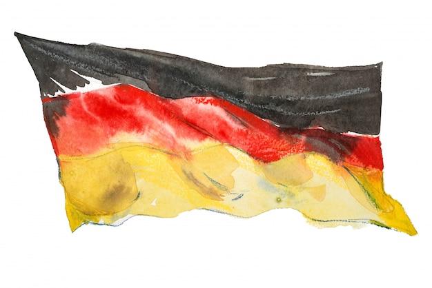 Flaga niemiec malowane w akwarele