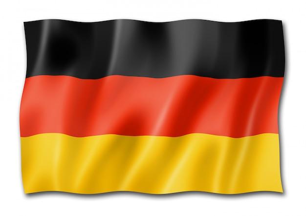 Flaga niemiec na białym tle