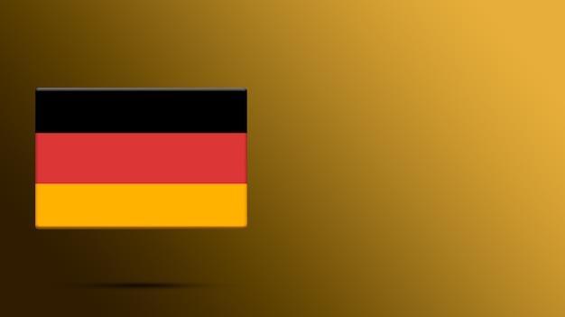 Flaga niemiec na realistycznej platformie