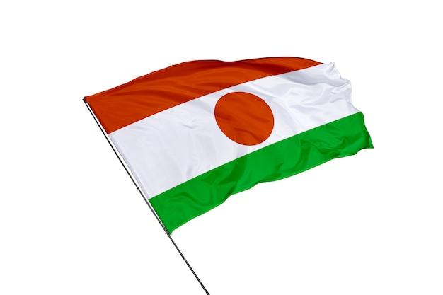 Flaga nigru na białym tle