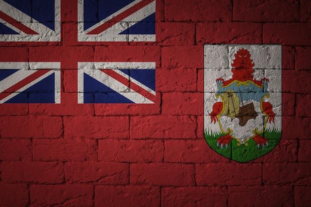 Flaga o oryginalnych proporcjach. zbliżenie flaga grunge bermudów.