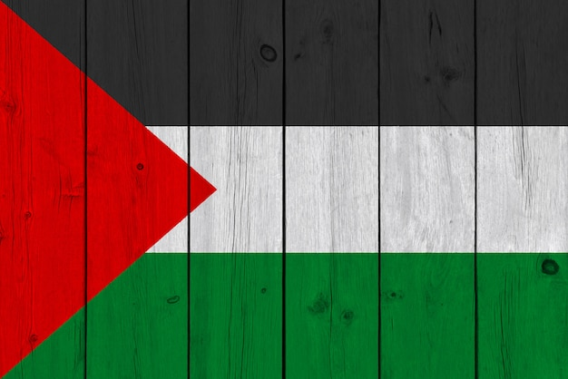 Flaga palestyny malowane na starej desce