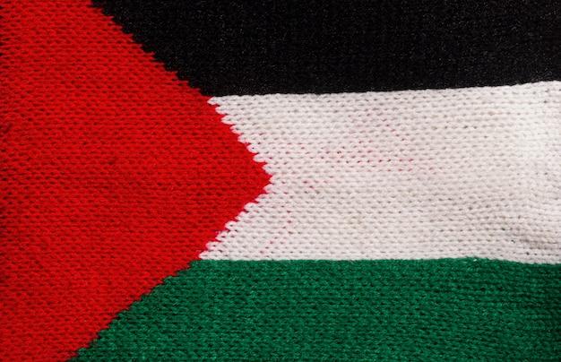 Flaga palestyny tekstura tło wykonane z tkaniny, na tło i tapetę.