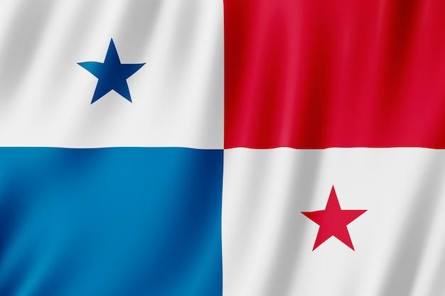 Flaga panamy na wietrze.