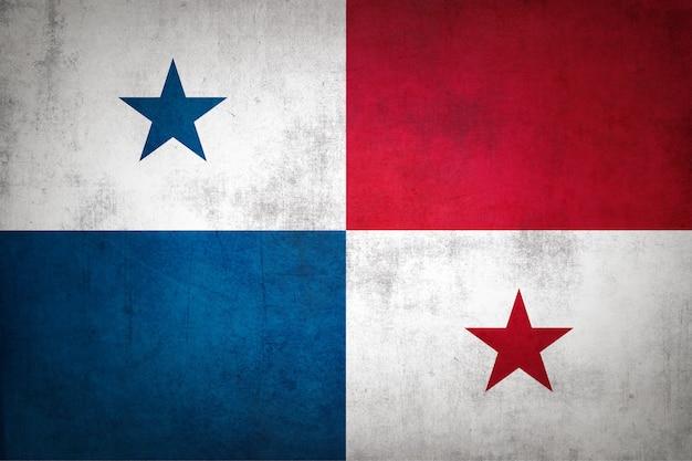 Flaga panamy z grunge tekstur.