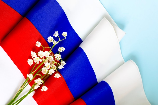 Flaga państwowa rosji.