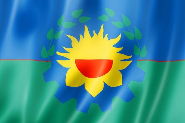Flaga prowincji buenos aires, argentyna macha kolekcja transparentu. ilustracja 3d