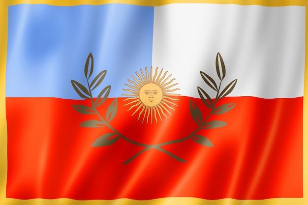 Flaga prowincji catamarca, argentyna macha kolekcja transparentu. ilustracja 3d