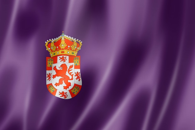 Flaga prowincji cordoba, hiszpania macha kolekcja transparent. ilustracja 3d