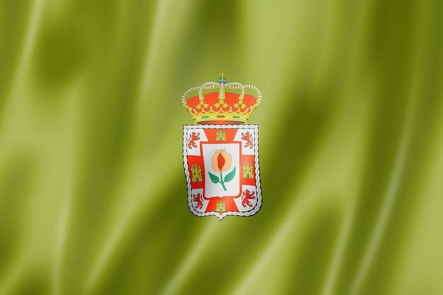 Flaga prowincji granada, hiszpania macha kolekcja transparent. ilustracja 3d