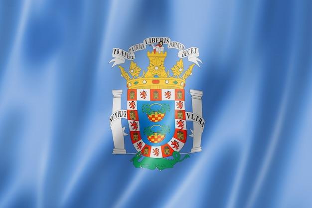 Flaga prowincji melila, hiszpania macha kolekcja transparentu. ilustracja 3d