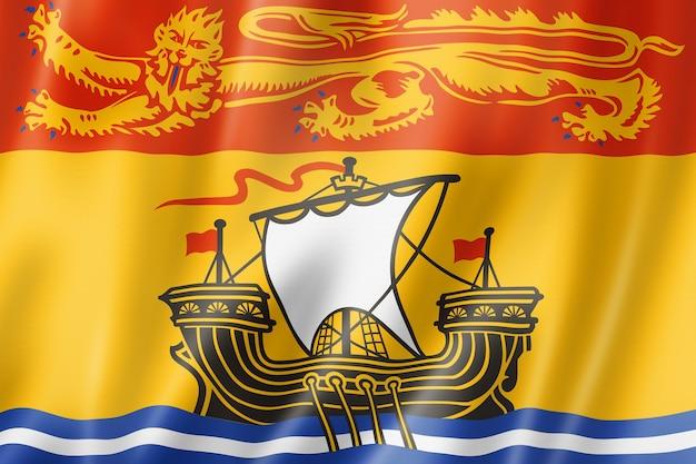 Flaga prowincji new brunswick, kanada macha kolekcja transparentu. ilustracja 3d