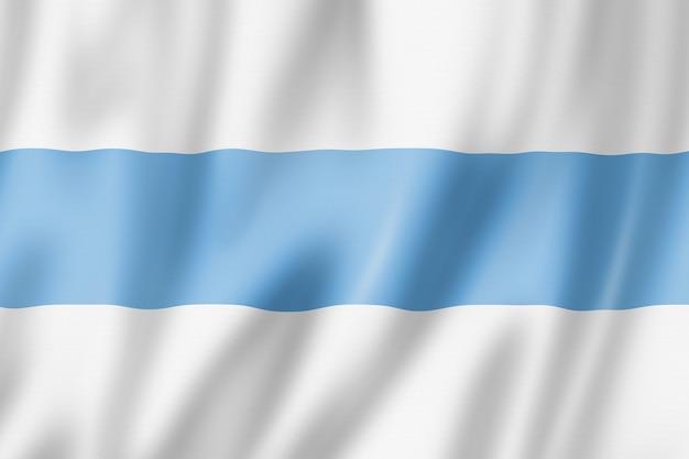 Flaga prowincji tucuman, argentyna macha kolekcja transparentu. ilustracja 3d