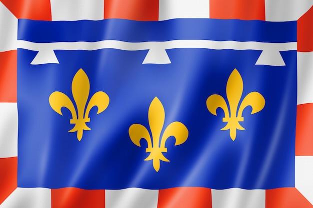 Flaga regionu centralnej doliny loary, francja