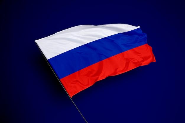 Flaga rosji w tle