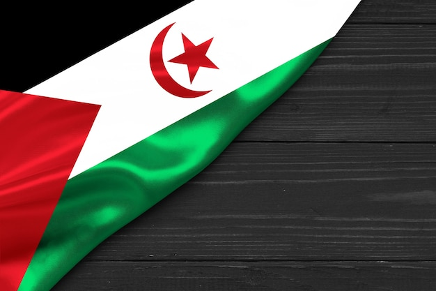 Flaga sahrawi arabskiej republiki demokratycznej kopia przestrzeń