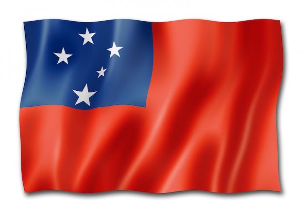 Flaga samoa na białym tle