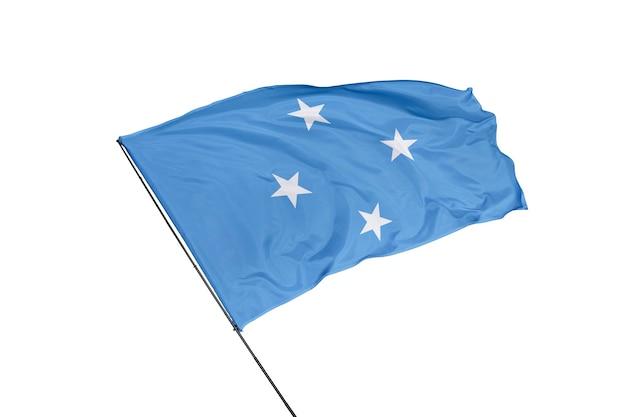 Flaga sfederowanych stanów mikronezji na białym tle