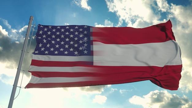 Flaga stanów usa i gruzji