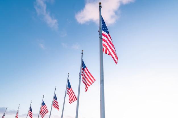 Flaga stanów zjednoczonych ameryki, usa