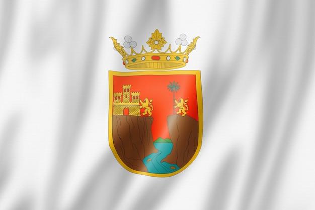 Flaga stanu chiapas, meksyk macha kolekcja transparentu. ilustracja 3d
